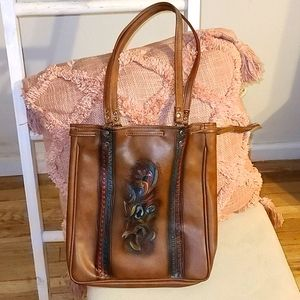 Handcrafted Western/Boho Style Leather Tot…